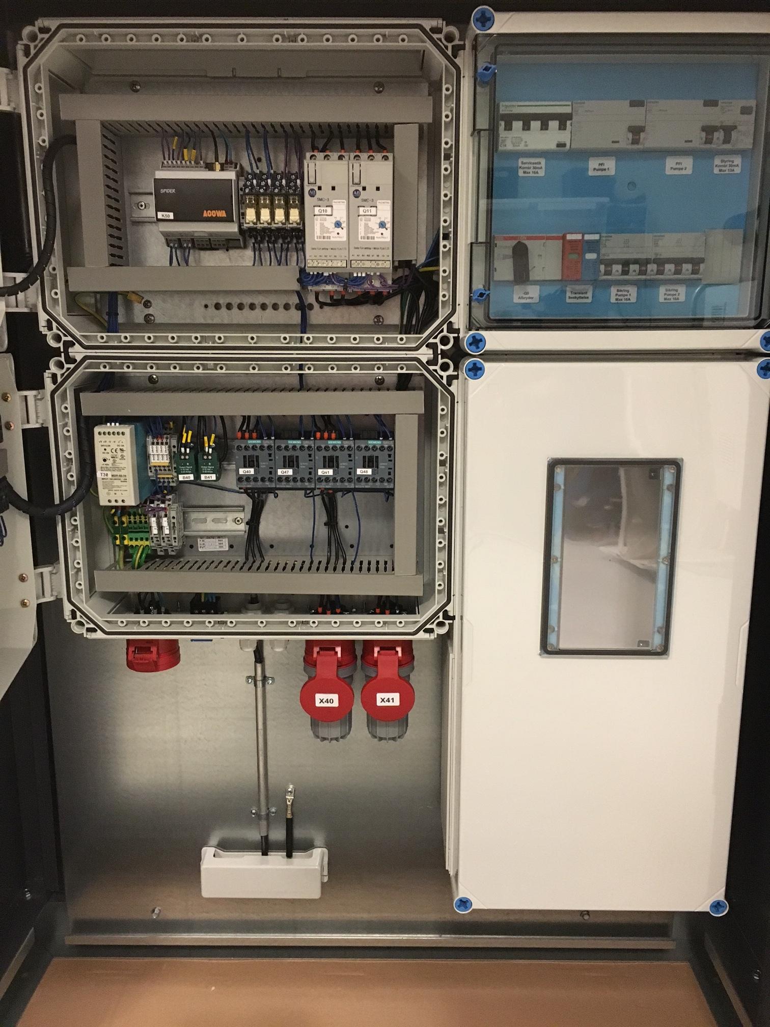 SPIDER pumpestyring skab